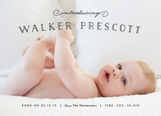 birth announcements - Organic Newborn by Carolyn MacLaren