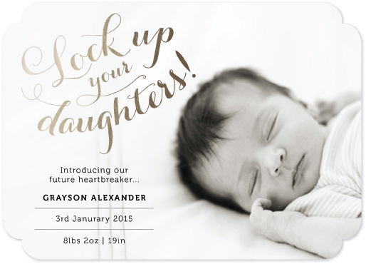 birth announcements - Lock Up Your Daughters by Chloe Welbaum