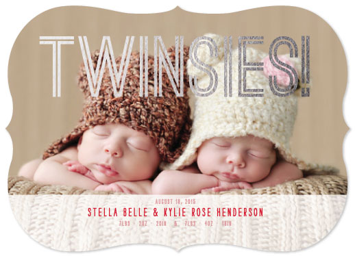 birth announcements - Twinsies! Foil-Pressed by Jillian Pfund