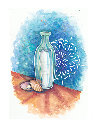 art prints - Bottled Secrets by Cynthia Oswald