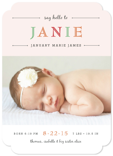 birth announcements - Whisper by Luckybug Designs