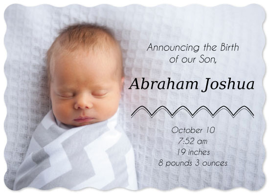 birth announcements - Little Mountain Man by Leah Mowry
