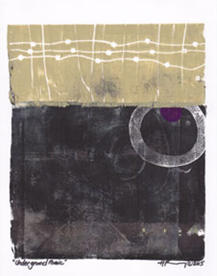 art prints - Underground Music by Holly Kenny