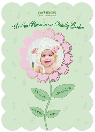 birth announcements - A New Flower by Onysia Kolesnikova