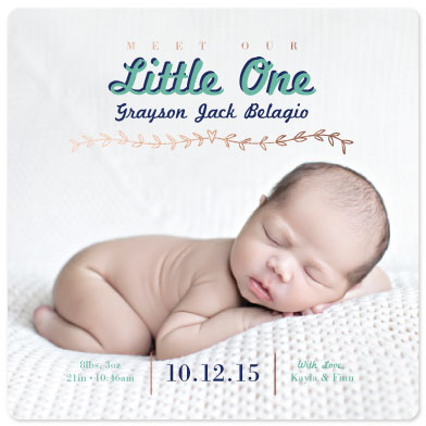birth announcements - Meet Our Little One Foil-Pressed by Jillian Pfund