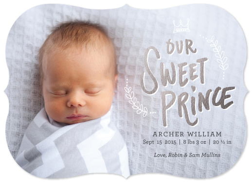 birth announcements - Our Sweet Sleeping Prince by Rachael Schendel
