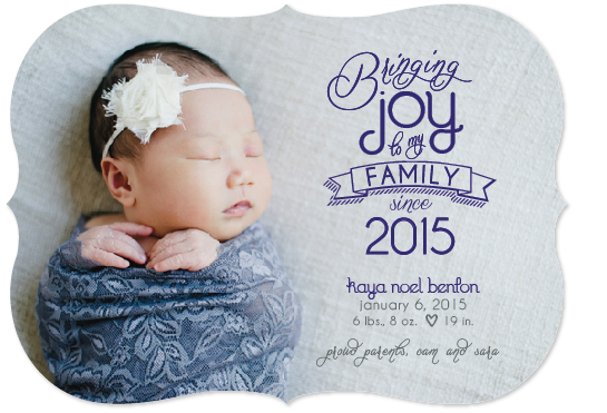 birth announcements - Bringing Joy Since... by SP Studio