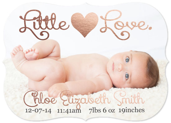 birth announcements - Littlest love by Melissa Jensen