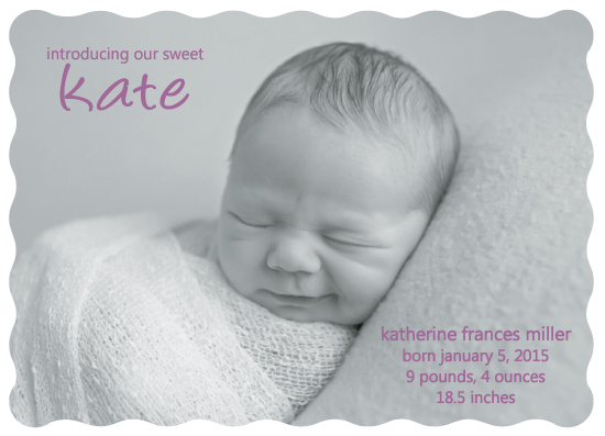 birth announcements - Introducing Baby's NIckname by Susan Teachey