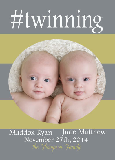 birth announcements - #twinning by Melissa Jensen