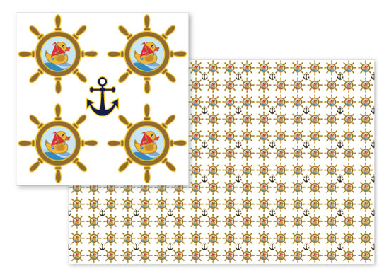 fabric - Rubber Ducks, Sailboats and Anchors by Richard Coble