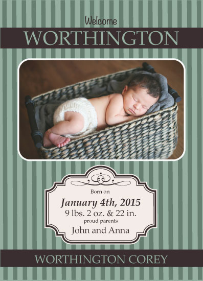 birth announcements - Boy in a Basket by Richard Coble