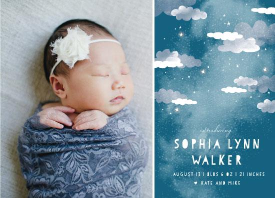 birth announcements - Celestial Clouds by Grace Kreinbrink