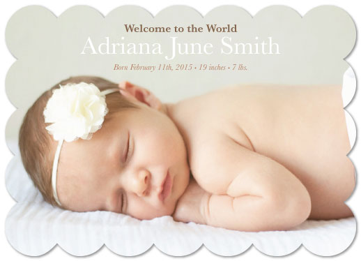 birth announcements - Cozy New Baby by Amber Moak