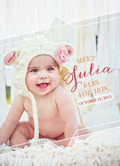 birth announcements - Triangle Love by Echo Artistry