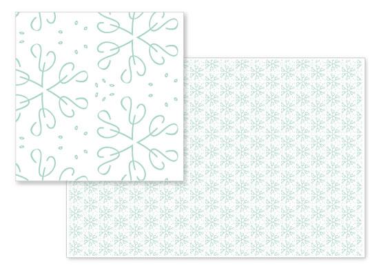 fabric - Green snowflakes by Onysia Kolesnikova