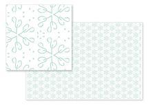 Green snowflakes by Onysia Kolesnikova