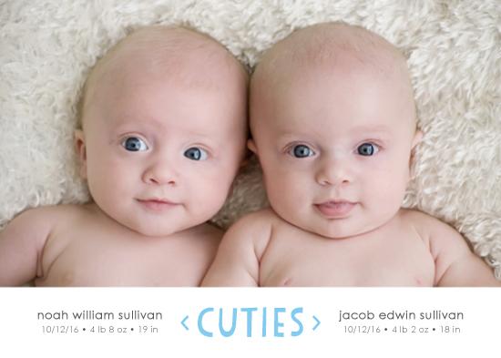 birth announcements - Cuties by Kim Dietrich Elam
