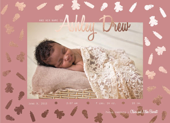birth announcements - And Teddy Bears Too by KC Design