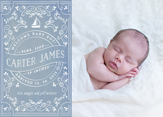 birth announcements - Little Baby Lullaby by Chris Griffith