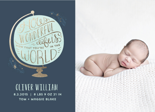 birth announcements - How Wonderful by Laura Hankins