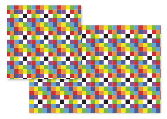 fabric - Rainbow Squares by Empire Ruhl