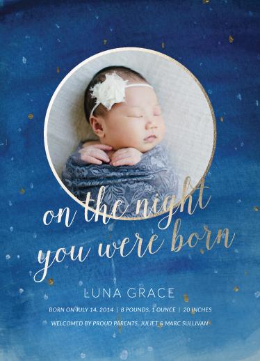 birth announcements - Night Sky by Maria Hilas Louie