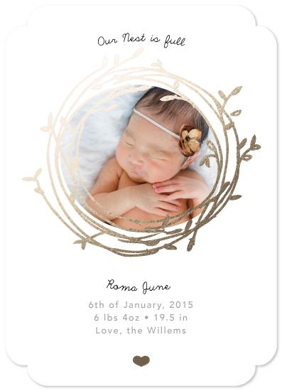 birth announcements - Our Nest is Full by Little Miss Missy