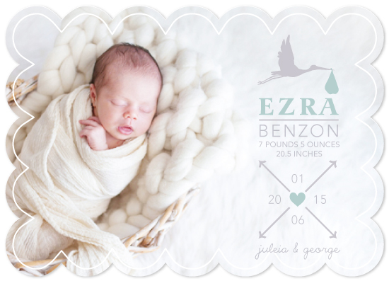 birth announcements - On a Cloud by Little Miss Missy