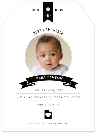 birth announcements - Here I Am by Little Miss Missy