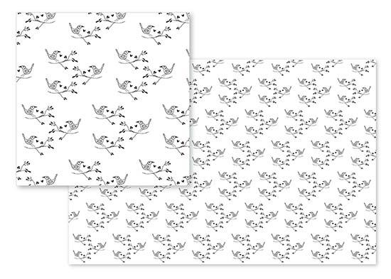 fabric - Bob's Three Little Birds by Carmelina