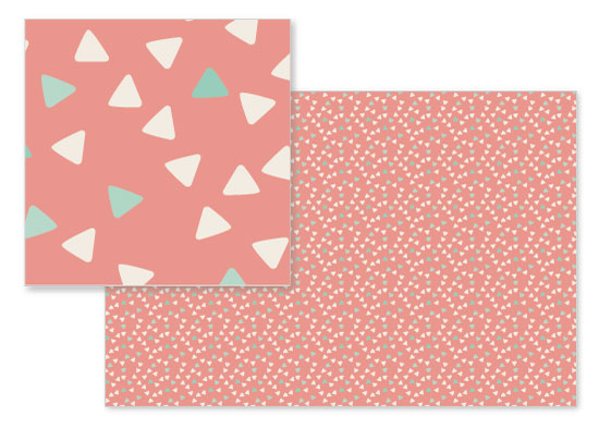fabric - Cute Triangles by Vera Lim