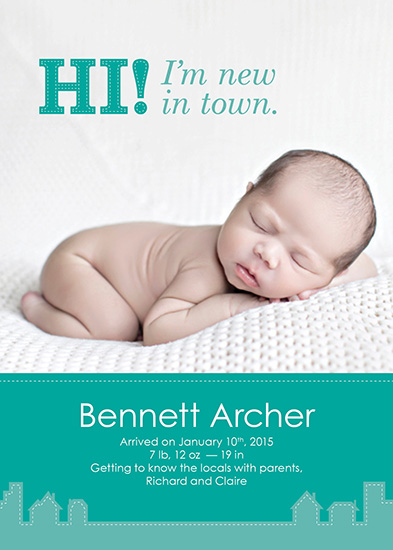 birth announcements - New in Town by notinsidethebox