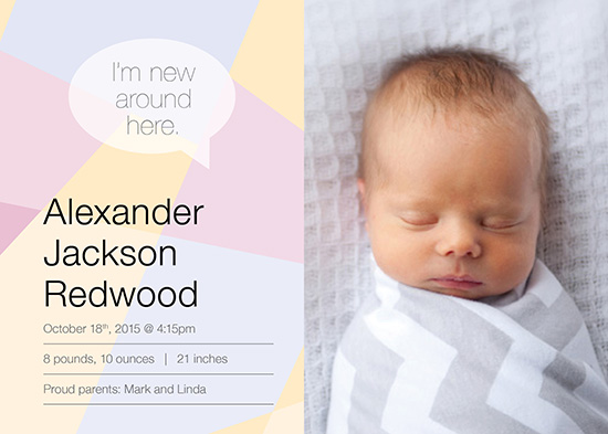 birth announcements - New Around Here by notinsidethebox