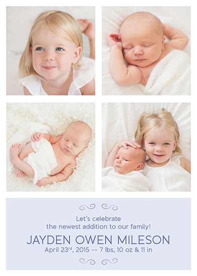 birth announcements - Classic Photo Grid by notinsidethebox
