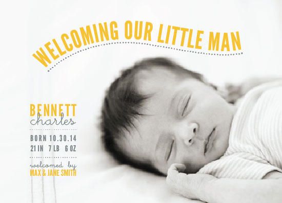 birth announcements - Bright Welcome Little Man by Jamie Stanislav