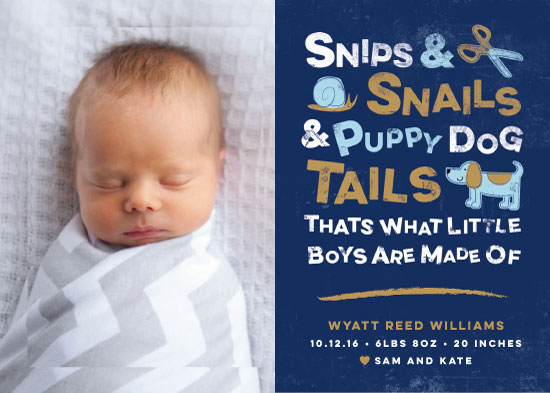 birth announcements - Snips and Snails by Jessica Ogden