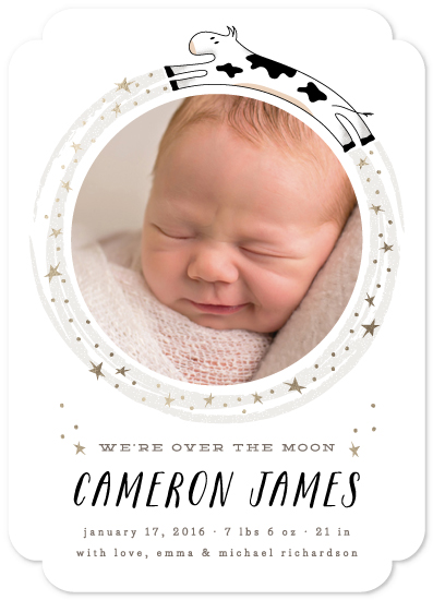 birth announcements - So Over The Moon by Lehan Veenker