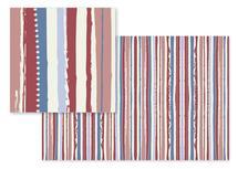 Marsala Brush Stripes by Olga Mendenhall