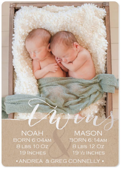 birth announcements - Twins by 365 Designs
