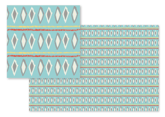 fabric - Ikat Diamonds and Stripes by Carlyn Clark