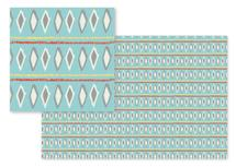 Ikat Diamonds and Strip... by Carlyn Clark