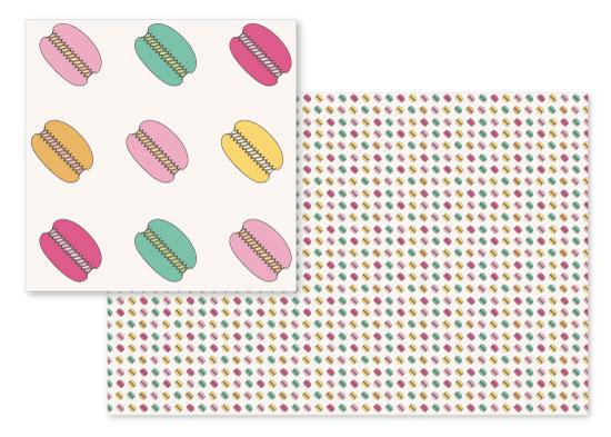 fabric - Dancing Macarons by Koeun Min