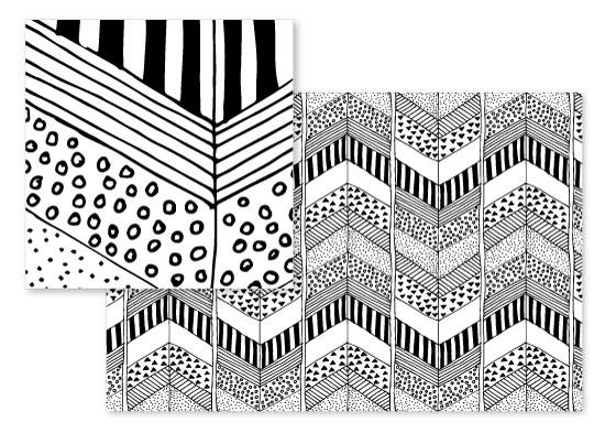 fabric - Organic Herringbone by Yaling Hou Suzuki