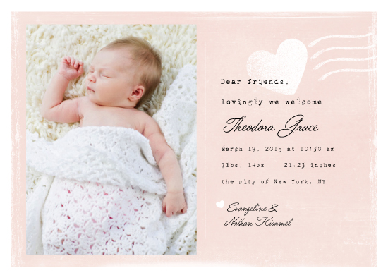 birth announcements - postmarked love by shoshin studio