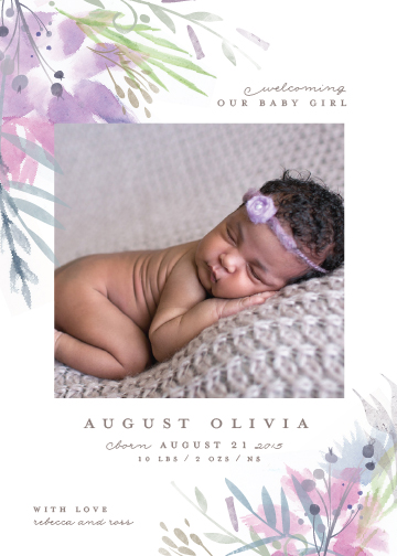 birth announcements - sweet water by Lori Wemple