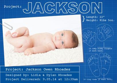 birth announcements - Baby blueprint by Francesca Leipzig Picone