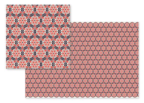 fabric - hexagonal flowers by clara catharina