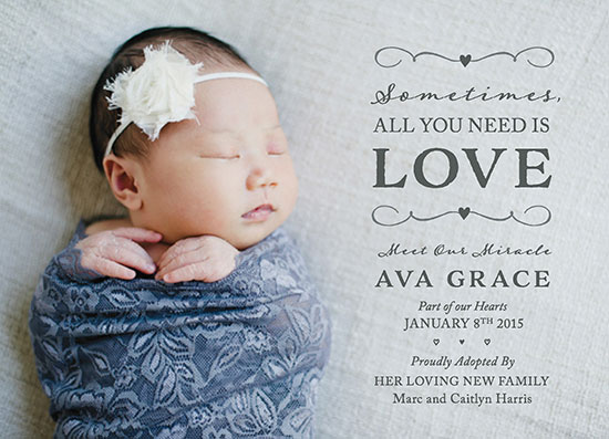 birth announcements - All You Need is Love by Meridyth Espindola