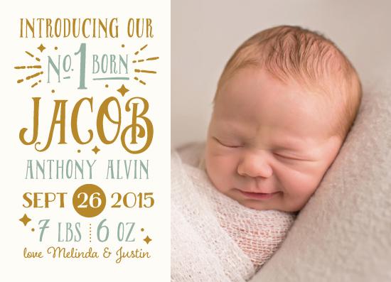 birth announcements - Vintage Brilliance by Sam Dubeau